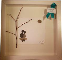 Lovers under a tree - #Irish #pebble #Art