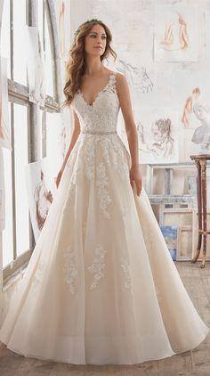 timeless a line wedding bridal gowns from Morilee Madeline Gardner