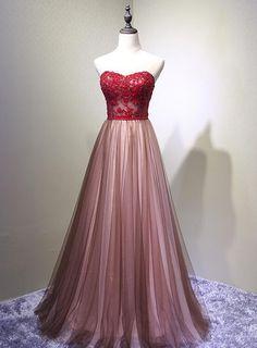 57c4e41623 Sweetheart Tulle Prom Dress 2019