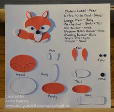 Along Came Stamping: Red Fox Punch Art Cheat Sheet
