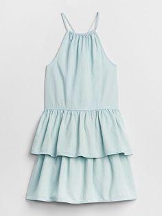 1fdf66ff03d Gap Girls Denim Halter Tier Dress Medium Indigo Picture Outfits
