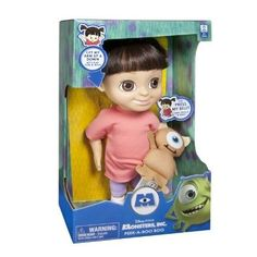 Monster Inc University Peek-A-Boo Doll Plush Talking Singing Boo w/ Little Mikey