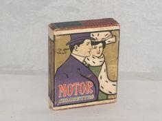 ANTIQUE VINTAGE CIGARETTE PACK MOTOR CIGARETTES RARE CIRCA 1910 | eBay