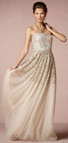 Gorgeous! a lovely alternative to the traditional white gown!