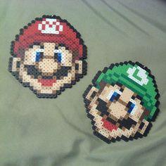 Mario and Luigi perler beads by jaynechains