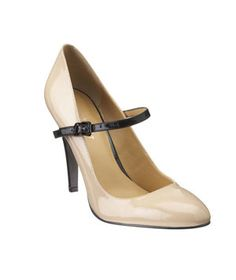 Nine West Sheryl Heels  Strappy patent pumps have step-out-at-night swankiness but all the polish you want in a work shoe. Also in black/black leather and red/black patent.