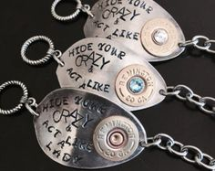 "Miranda Lambert inspired ""Hide Your Crazy"" Spoon Toggle Bracelet with 20 Gauge"
