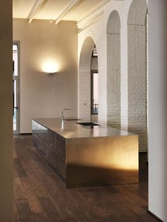 Linear steel kitchen BAGUTTA Atelier Collection by ABIMIS by PRISMA