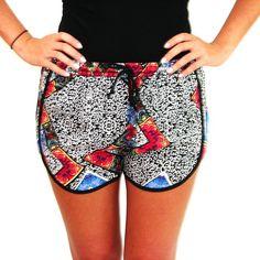 MinkPink Shorts. A great print! #MinkPink #shorts #fun #print #colorful #inlove