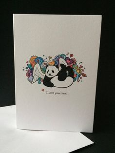 I Love Your Bum card by BadgerandSquidge on Etsy
