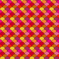 FREE printable happily colored scallop pattern paper