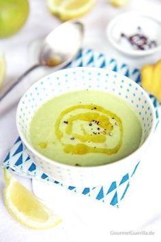 Sommer: kalte Zucchini-Zitronen-Suppe
