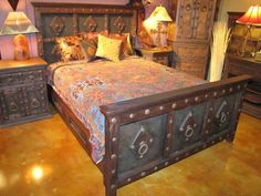Jerusalem Bed by The Rustic Gallery of San Antonio, Texas. #rustic #furniture