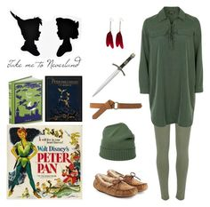 """~ James Newton Howard - Flying ~"" by isa-wonder-woman ❤ liked on Polyvore featuring River Island, Topshop, UGG Australia, malo, MANGO, OSCAR Bijoux, peterpan and disneycharacter"
