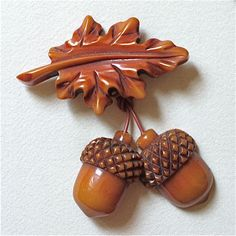 Vintage Oak Leaf & Acorn Pair brooch                                                                                                                                                                                 More