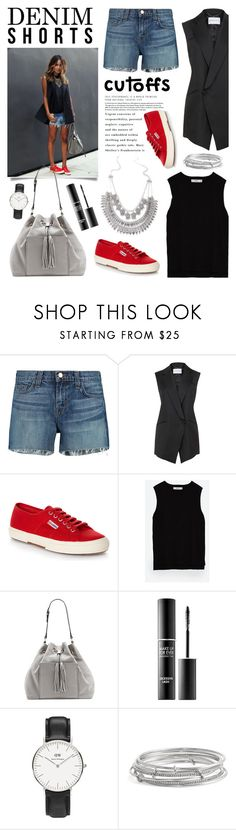 """The Final Cut: Denim Shorts"" by glamorous09 ❤ liked on Polyvore featuring J Brand, Superga, Zara, Vince Camuto, MAKE UP FOR EVER, Daniel Wellington, Kate Spade, jeanshorts, denimshorts and cutoffs"