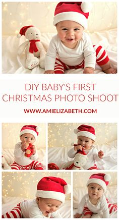 DIY Baby s First Christmas Photo Shoot Ami Elizabeth DIY Baby s First Christmas Photo Shoot Ami Elizabeth Dariela Cruz Mami Talks darielacruz Holiday photoshoots December is finally nbsp hellip Christmas Card Pictures, Xmas Photos, Family Christmas Pictures, Christmas Photoshoot Ideas, Newborn Pictures, Baby Pictures, Baby Photos, Pregnancy Pictures, Babys 1st Christmas