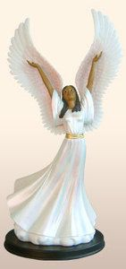 African American Figurine Exalt His Name Religious Angels | eBay