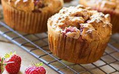 Aardbeien muffins met Griekse yoghurt