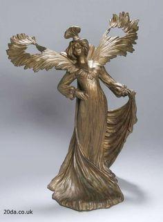 French Art Nouveau Sculpture By Paul Lucien Bessin