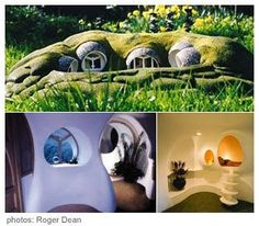 Strawberry Anarchy: Roger Dean Architecture and Art Underground Homes, Underground Living, Arcology, Earthy Home, Roger Dean, Brighton, Gaia, Geodesic Dome, Natural Building