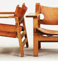 Tower Mill Concept // Danish Design, The Spanish Chair by Borge Mogensen Leather Furniture, Home Furniture, Modern Furniture, Furniture Design, Leather Chairs, 1950s Furniture, Leather Sofas, Boho Home, Wood Painting Art