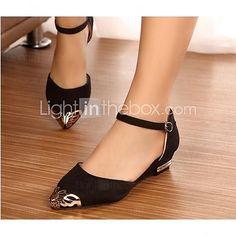 Chaussures Femme - Habillé - Noir / Bleu / Rouge - Talon Plat - Bout Pointu - Plates - Similicuir - USD $37.99