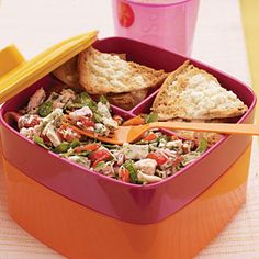 Tuna, Artichoke, and Roasted Red Pepper Salad | MyRecipes.com #MyPlate #protein #vegetable