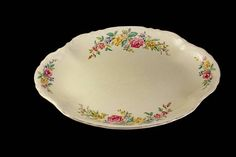 Oval Platter W S George Radisson Floral Sprays Yellow and