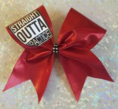 Straight out of practice cheer bow by DaisyBowtique on Etsy
