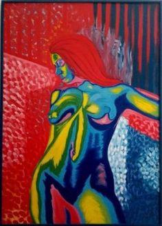 "Painting, ""Night comes"" Homemade Lip Balm, Oil Painting On Canvas, Saatchi Art, Design Art, Original Paintings, Art Deco, Neon, Night, Artist"