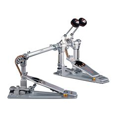 Pearl Demon Chain Drive Double Bass Drum Pedal, Silver