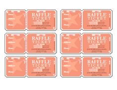 Blank Raffle TicketsEvent Tickets Postcards Free Templates