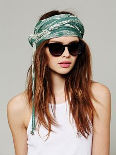 Free People Titanic Sunglasses at Free People Clothing Boutique Bohemian Hairstyles, Headband Hairstyles, Bad Hair, Hair Day, Head Scarf Styles, Hair Styles, Trends, Stylish Girl, Fashion Stylist