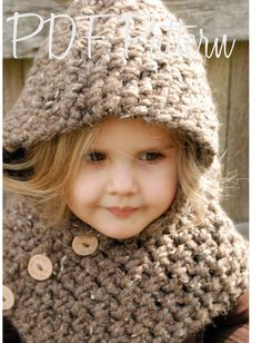 Crochet PATTERN-The Hampton Hood (Toddler, Child, Adult sizes) also can be Made to Order. $5.50, via Etsy.