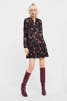 The Dress, Dress Skirt, High Neck Dress, Top Luxury Brands, Fashion Watches, Women's Fashion, Collar Dress, Cute Dresses, Style Me