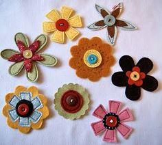 Homemade felt/fabric flowers tutorial