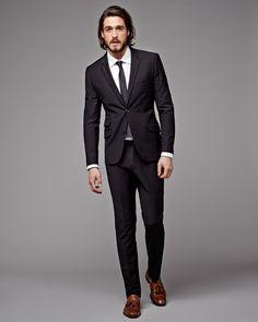 2017 Italian Style Black Wedding Suits For Men Tailor Made Slim Fit Groom Tuxedos Bridegroom Groomsman Suit(Jacket+Pants)terno