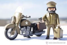 Playmobil Custom - Soldado - Motorista - Mensajero - Americano - 100% Playmobil