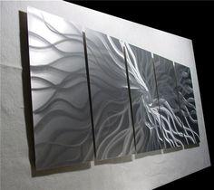 Abstract Metal Wall Art Modern Sculpture Contemporary Painting Modern Handmade  #Abstract