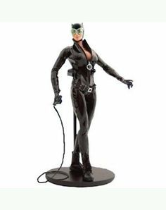 Catwoman 13-Inch Deluxe Collector Figure by DC Direct. $109.99. Officially licensed. CATWOMAN is the first female & newest addition to DC Direct's line of realistically proportioned, super-heroic 1:6 scale figures! This deluxe collector figure comes clothed in an authentically detailed fabric costume and includes accessories and a display stand. Packaged in a deluxe 4-color window box with a fifth panel. - Collector figure