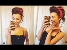 50s Inspired Vintage Pinup Updo w/ Bandana - All Things Hair - YouTube