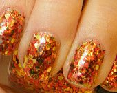 Autumn Leaves: hand mixed glitter nail polish Full size .5 oz. Coco Allure