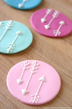 Arrow cupcake toppers are a cute way to dress up a plain cupcake.