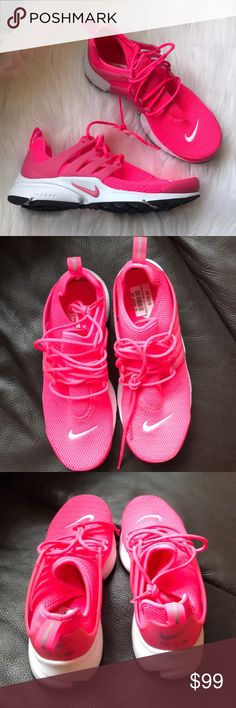 Nike Air Presto Sneakers Woman's Nike Air Presto Sneakers Style: 878068-600 Hyper pink and white New with original box UPC and box vary with size - price is firm! Nike Shoes Sneakers