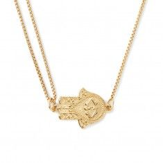 Hand of Fatima Pull Chain Necklace