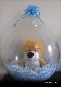 King of the Jungle Stuffed Balloon  www.Facebook.com/tubbyballoonz