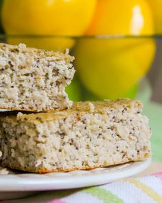 34. Lemon Poppy Seed Protein Squares #healthy #breakfast #recipes http://greatist.com/health/healthy-fast-breakfast-recipes