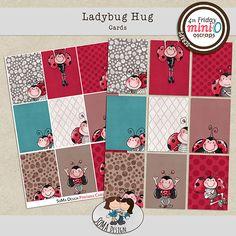 SoMa Design Ladybug Hug Cards Ladybug, Digital Scrapbooking, Hug, Playing Cards, Kids Rugs, Holiday Decor, Design, Lady Bug, Kid Friendly Rugs