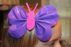 Another wonderful Duct Tape Hair bow! They are easy to make and super fun! Check out my HEART and SHAMROCK ones too Tape 3 stri. Duct Tape Projects, Duck Tape Crafts, Birthday Gifts For Teens, Valentines For Kids, Teen Birthday, Birthday Ideas, Crafts For Girls, Fun Crafts, Party Crafts